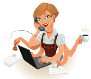 16907637-secretaris-kan-gemakkelijk-omgaan-met-verschillende-dingen-tegelijk